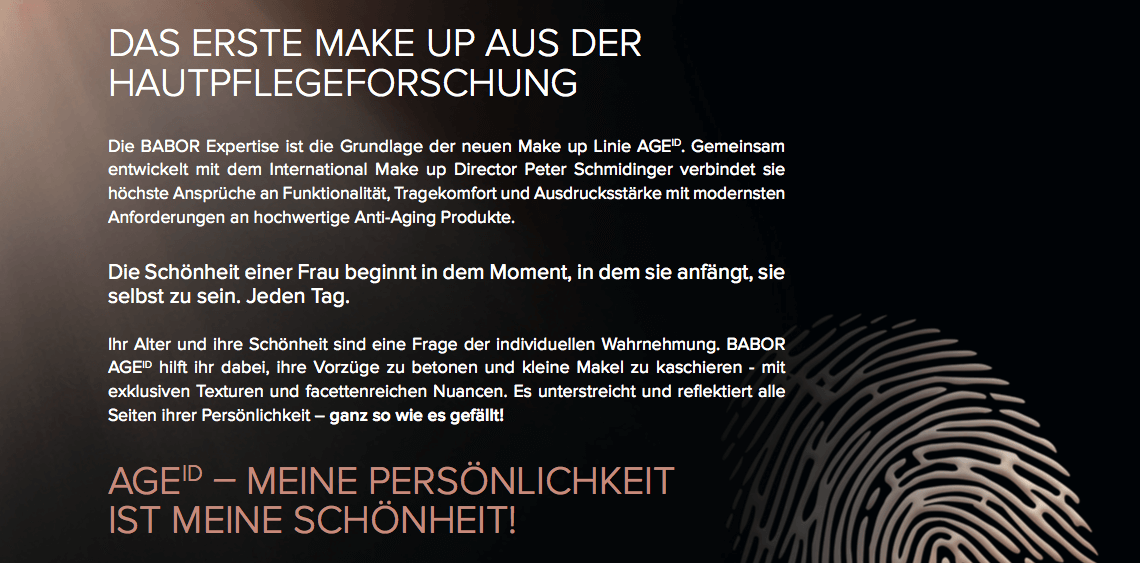 Make Up Hautpflege Forschung